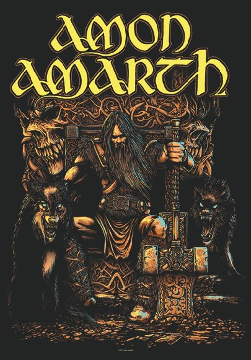 Amon Amarth Thor Wall Flag  HFL1027