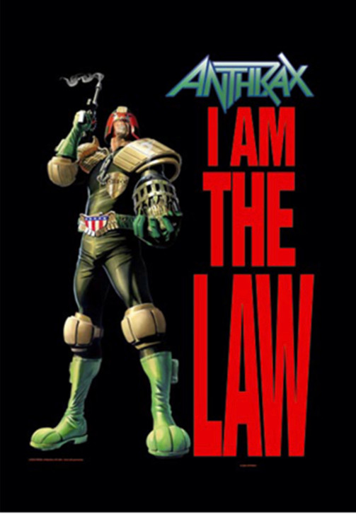 Anthrax I Am The Law Wall Flag  HFL0788