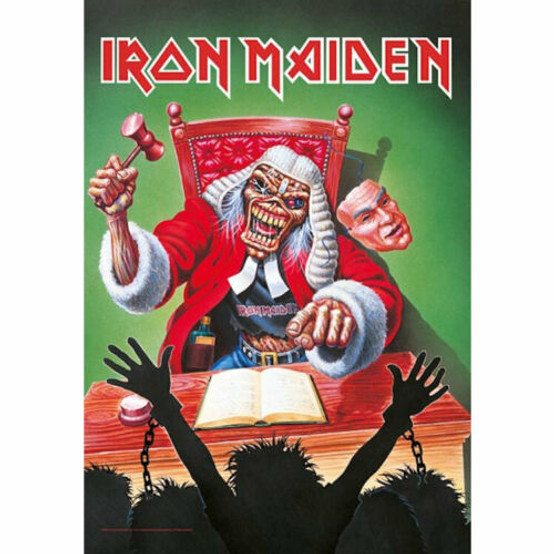Iron Maiden Santa Judge Wall Flag  HFL1196