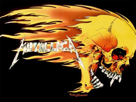 Metallica Skull And Flame Wall Flag  HLF0311
