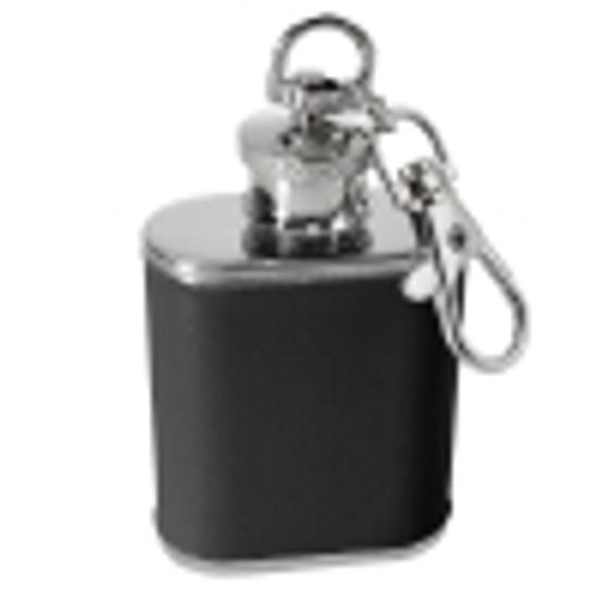 1oz Black Flask Keychain  FLASK-B-1