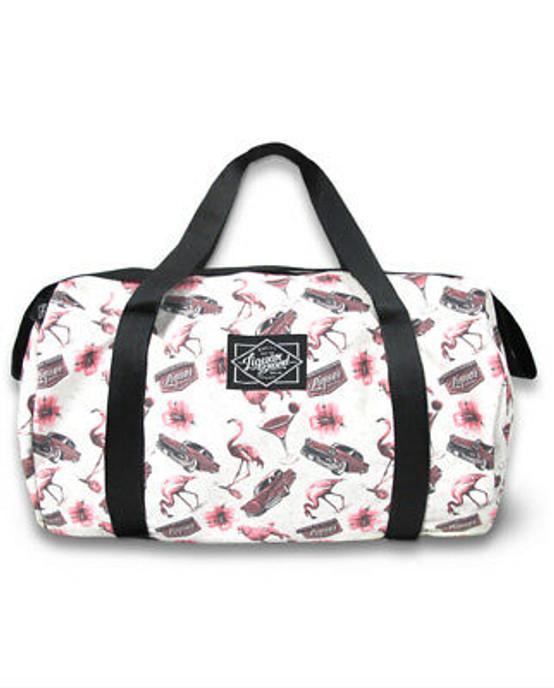 Liquor Brand Flamingo Duffle Bag  LBDUFFFLAM