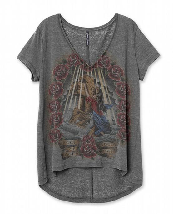 Liquor Brand Rock Of Ages V-Neck T-Shirt  LB-WTSX-19007