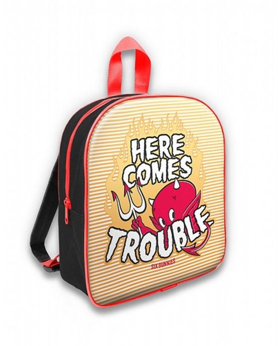 Six Bunnies Here Comes Trouble Kid's Backpack  SB-BPK-010