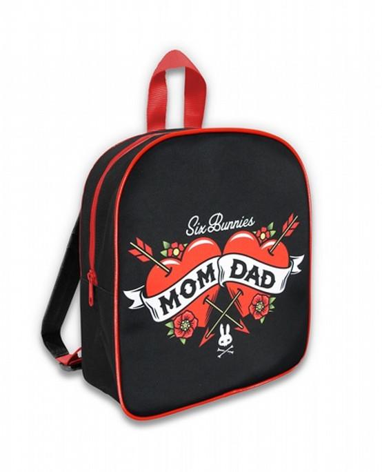 Six Bunnies Mom Dad Kid's Backpack  SB-BPK-054