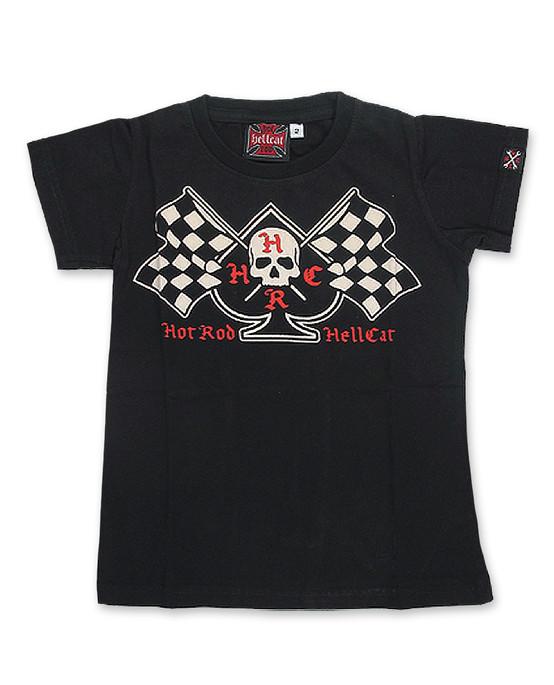 Hotrod Hellcat Flags Kid's T-Shirt  HR-HKK-017