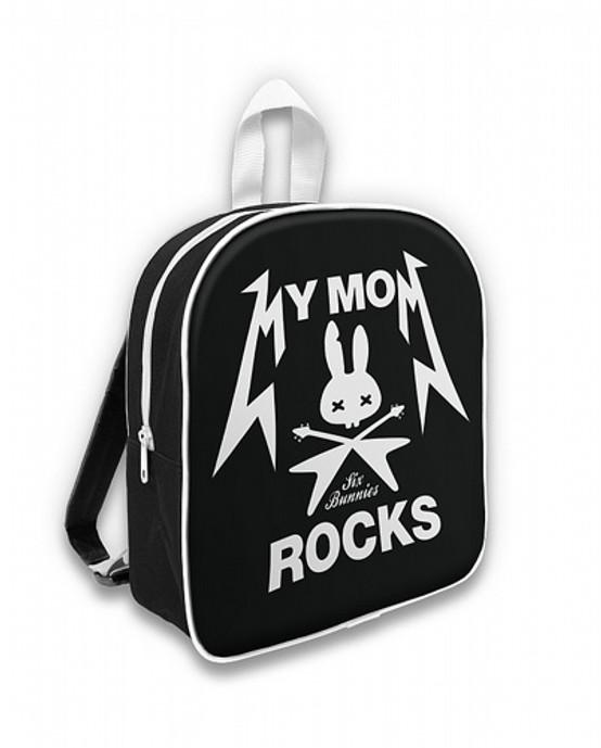 Six Bunnies My Mom Rocks Kid's Backpack  SB-BPK-005