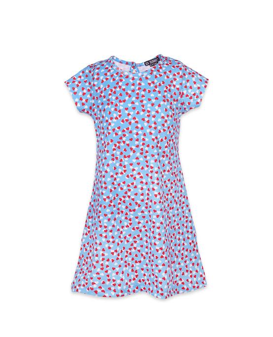 Six Bunnies Hearts Kid's Dress  SB-KDR-19007