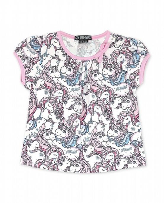 Six Bunnies Unicorn Dreams Baby T-Shirt  SB-KTSB-2007