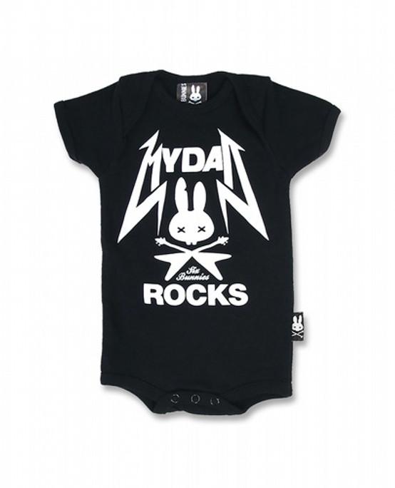 Six Bunnies Dad Rock Kids T-Shirt  SB-ROP-002