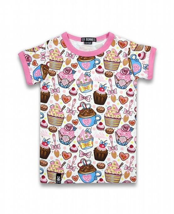 Six Bunnies Cupcakes Kids T-Shirt  SB-KTS-039