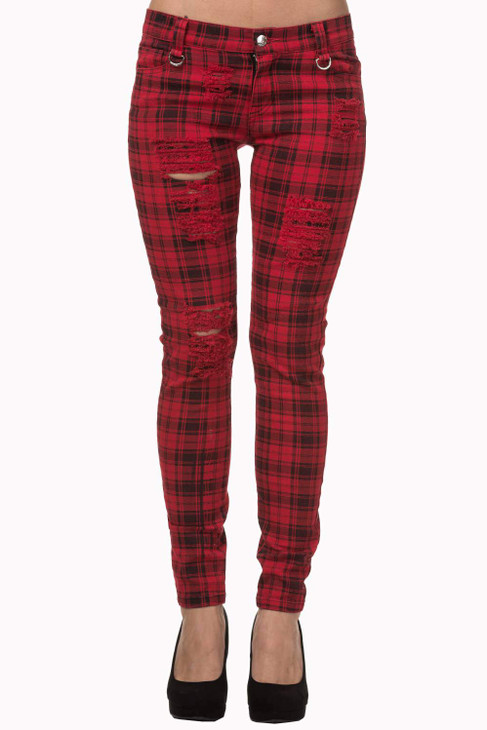 Banned Move On Up Trousers Red  TR4053-R