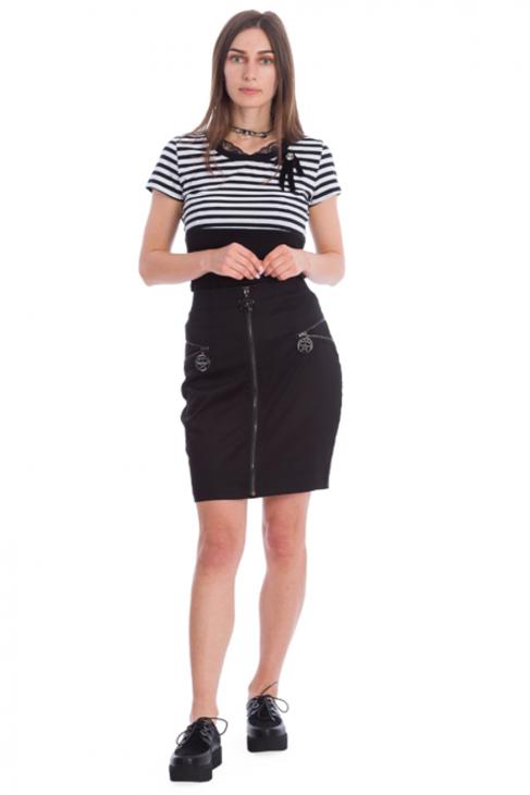 Banned Night Zip Skirt  SK25294