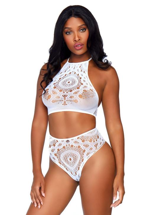 Leg Avenue 2Pc. Crop Top & Panty Kit