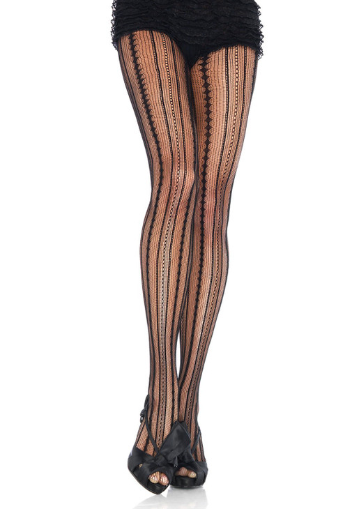 Leg Avenue Vintage Pinstripe Pantyhose Tights  LA-9649