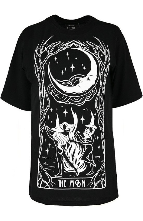 Restyle Witches Chant Oversized T-Shirt  RST-T-CHANT