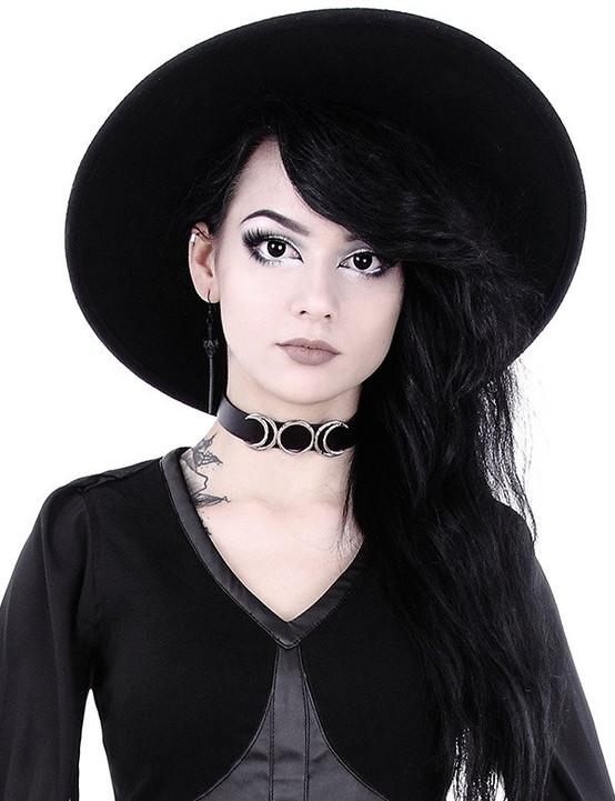 Restyle Gothic Triple Goddess Moon Choker  RST-C-GODDESS