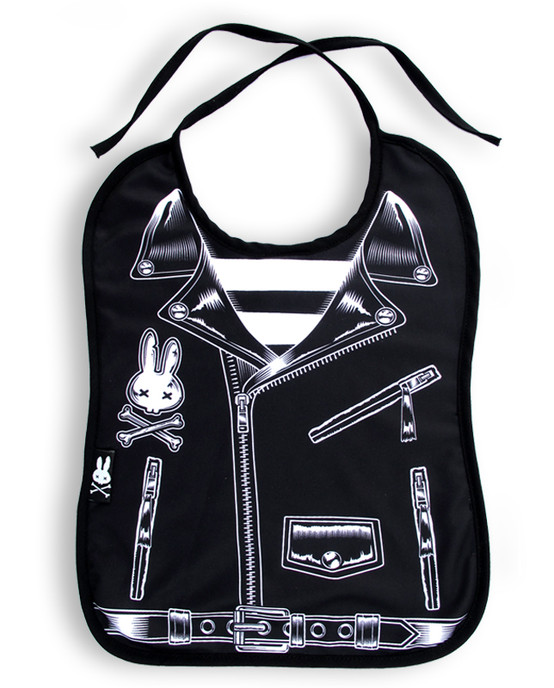 Rocker Jacket Baby Bib  BIB-015