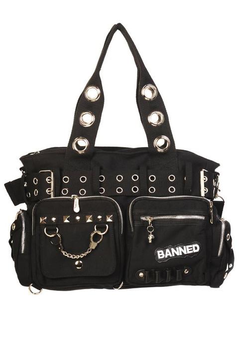 Banned Handcuff Handbag Black