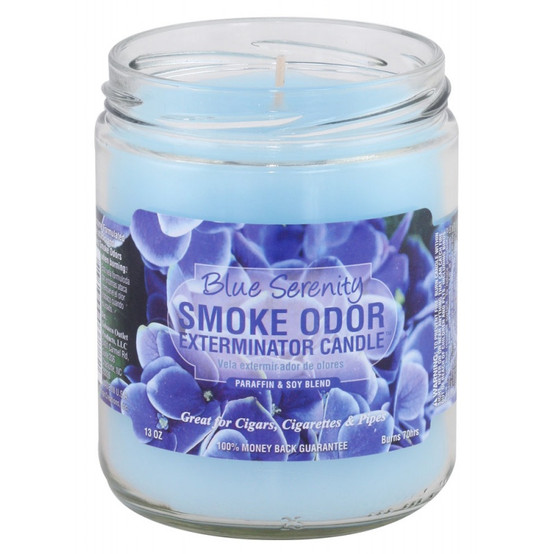 Smoke Odor Blue Serenity 13oz Candle