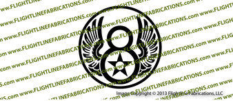 WWII 8th Air Force USAAF Logo Vinyl Die-Cut Sticker / Decal VS8AFL