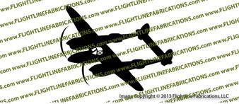 WWII Fighter P-38 Lightning Action Vinyl Die-Cut Sticker / Decal VSP38A