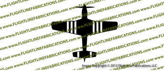 WWII Fighter P-51 d Mustang D-Day Stripes Top Vinyl Die-Cut Sticker / Decal VSP51TDD