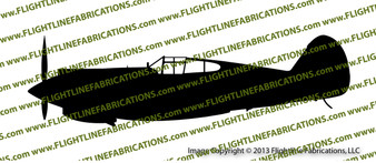 WWII Fighter P-40 b Tomahawk IIa Profile Vinyl Die-Cut Sticker / Decal VSP40BP