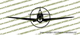 WWII Fighter P-40 b Tomahawk IIa Front Vinyl Die-Cut Sticker / Decal VSP40BF