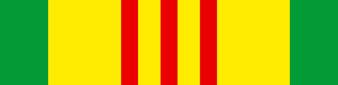 Vietnam Service Medal Ribbon Vinyl Sticker