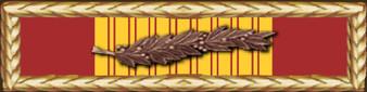 Vietnam Gallantry Cross with Palm Service Ribbon Vinyl Sticker