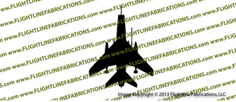 F-100 Super Sabre TOP Vinyl Sticker