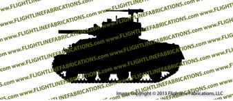 M4A3 Sherman Tank Vinyl Die-Cut Sticker / Decal VSM4A31