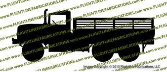 M32A2 Army Truck Rails Vinyl Die-Cut Sticker / Decal VSM32A23