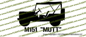 M151 Mutt Jeep Top Up Vinyl Die-Cut Sticker / Decal VSM1511