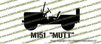 M151 Mutt Jeep Top Down Vinyl Die-Cut Sticker / Decal VSM1512