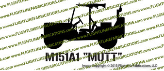 M151 Mutt Jeep Top Down M60 Vinyl Die-Cut Sticker / Decal VSM1513