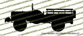 WC-52 Weapons Carrier Top Down Dodge Vinyl Die-Cut Sticker / Decal VSWC52TD1