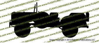 WC-56 Command Car Top Down Vinyl Die-Cut Sticker / Decal VSWC56CC1
