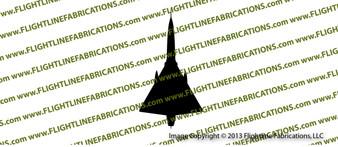 F-106 Delta Dart Top Vinyl Die-Cut Sticker / Decal VSF106T