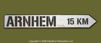 Arnhem 15km Directional Sign