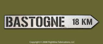 Bastogne 18km Directional Sign