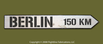BERLIN 150KM DIRECTIONAL SIGN