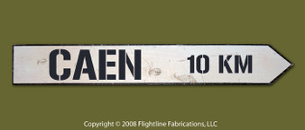 CAEN 10KM DIRECTIONAL SIGN