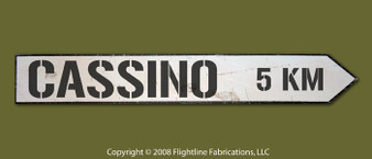 CASSINO 5KM DIRECTIONAL SIGN