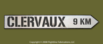 CLERVAUX 9 KM DIRECTIONAL SIGN