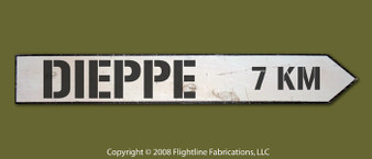 DIEPPE 7 KM DIRECTIONAL SIGN