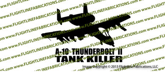 A-10 Thunderbolt II ACTION Vinyl Die-Cut Sticker / Decal VSAA10