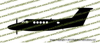 Beech King Air 200 PROFILE Vinyl Die-Cut Sticker / Decal VSPBKA200