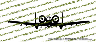 A-10 Thunderbolt II FRONT Vinyl Die-Cut Sticker / Decal VSFA10